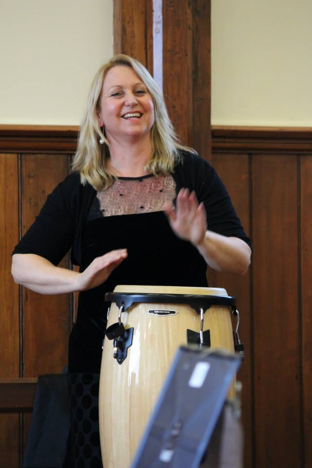 Our musical director, Helen Charlton.